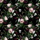 Fabric 17184 | Bouquet With a Protea
