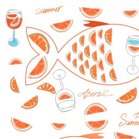 Fabric 17199 | Aperol sunner time