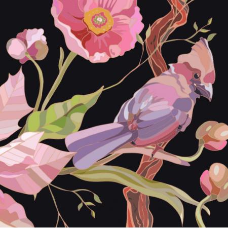 Fabric 17223 | Bird Life