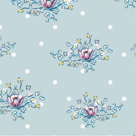 Fabric 17233 | RETRO DZIKIE RÓŻE kropeczki
