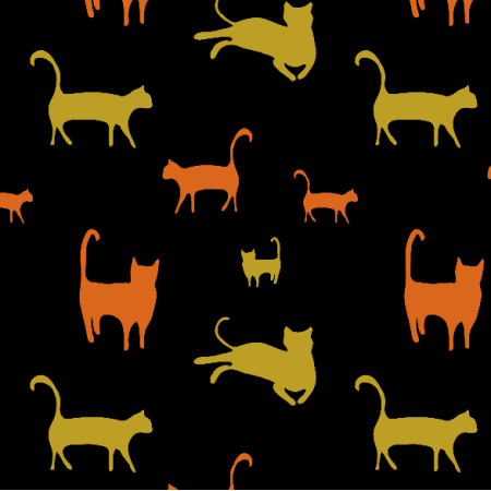 Fabric 17258 | koty czarne