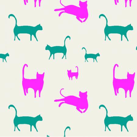 Fabric 17261   koty, kolor