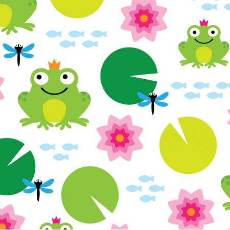 17309 | frog nenuphar dragonfly
