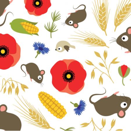 17312 | Mice in Grain Field