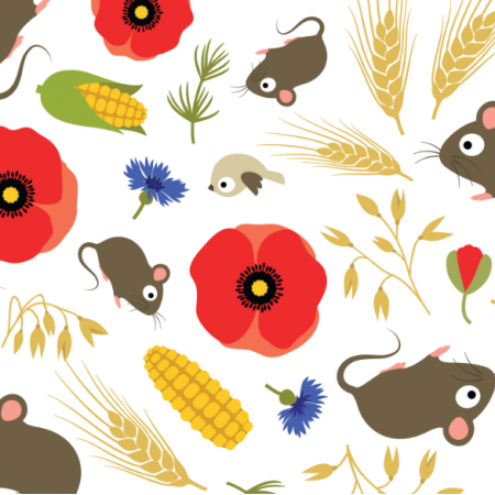Fabric 17312 | Mice in Grain Field