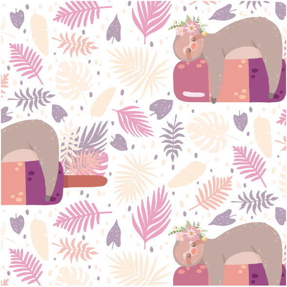 Fabric 17345   sloth