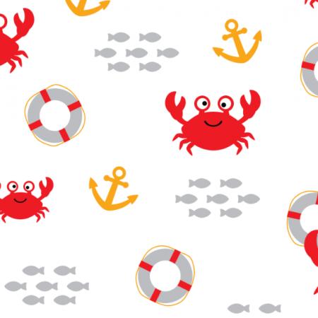 Fabric 17385 | Crab & Lifebuoy