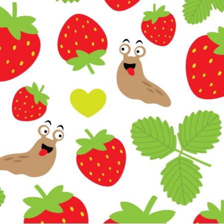 Tkanina 17403 | I Love Strawberries