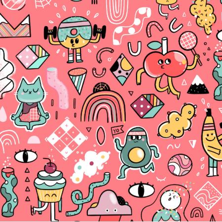17406 | Super cute kawaii sport fruits and veggies and cats