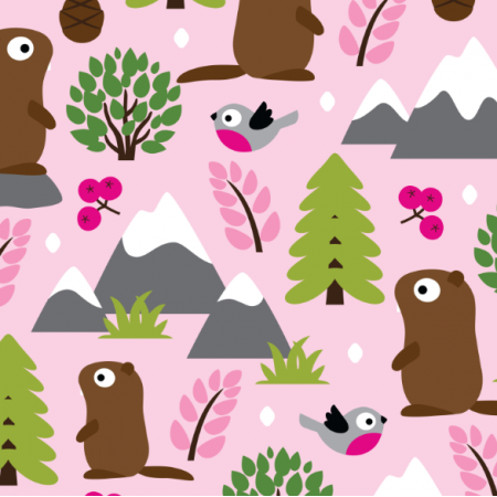 17413 | MARMOTS ON A MOUNTAIN GLADE