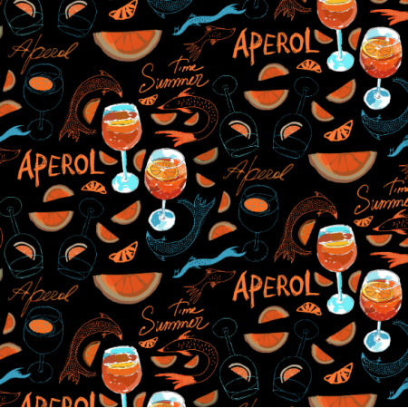 Fabric 17415 | Aperol summer time