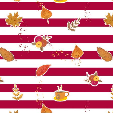 Tkanina 17440 | Autumn Vibes - tkanina z jesiennymi motywami0