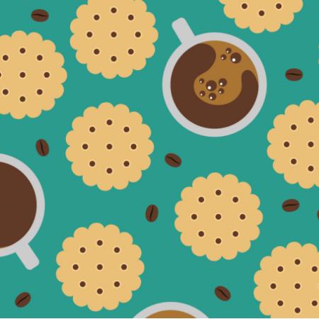 Tkanina 17489 | Coffee & Cookies