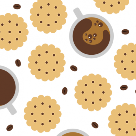 Fabric 17491 | Coffee & Cookies