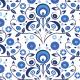 Tkanina 1912 | Blue Wycinanki