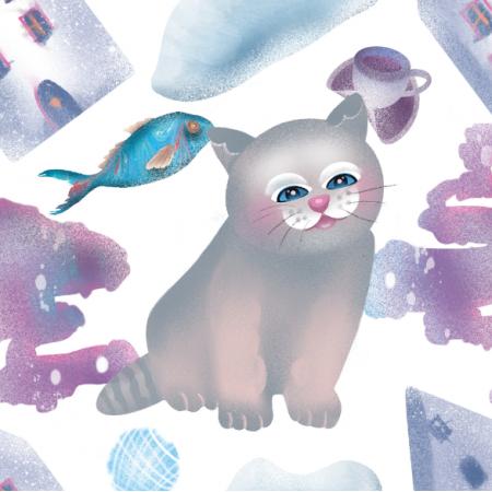 Fabric 17535 | cat