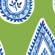 Tkanina 17564 | wzór paisley Zieleń