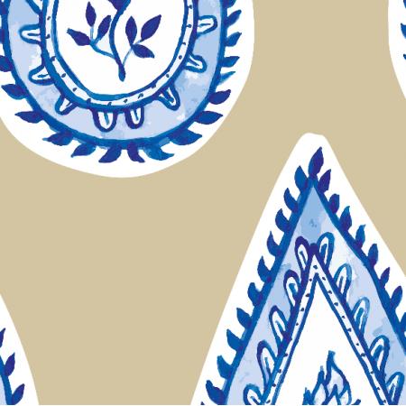 Fabric 17565 | wzór paisley beż