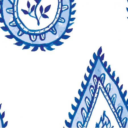 Tkanina 17566 | wzór paisley biały
