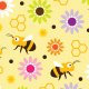 Tkanina 17571 | Bee & Flowers