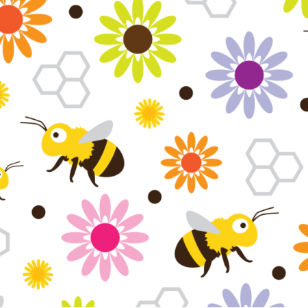 Fabric 17572 | Bee & Flowers