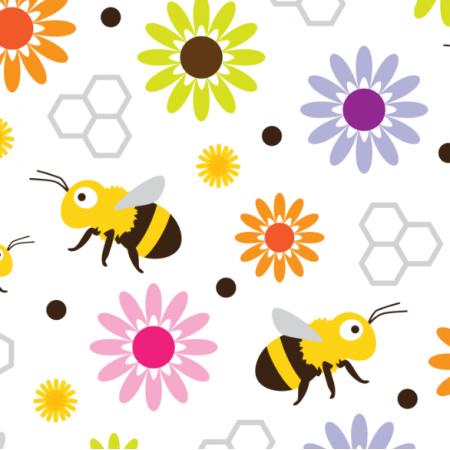 Fabric 17572 | Bee & Flowers