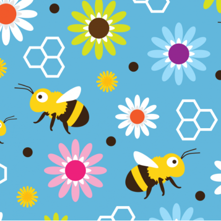 Fabric 17573 | Bee & Flowers