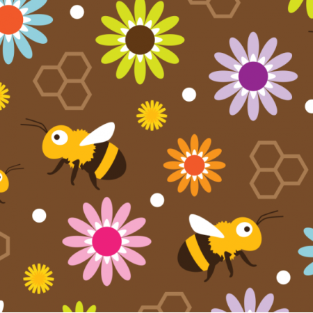Fabric 17574 | Bee & Flowers