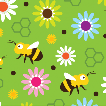 Fabric 17575 | Bee & Flowers