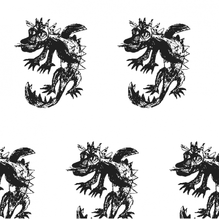 17679 | Dragon 5 white-black pattern