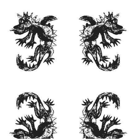 17680 | Dragon 6 white-black pattern