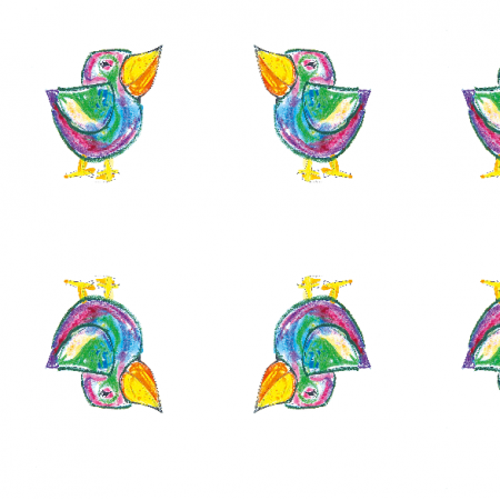 17684 | Funny bird 2- pattern for kids