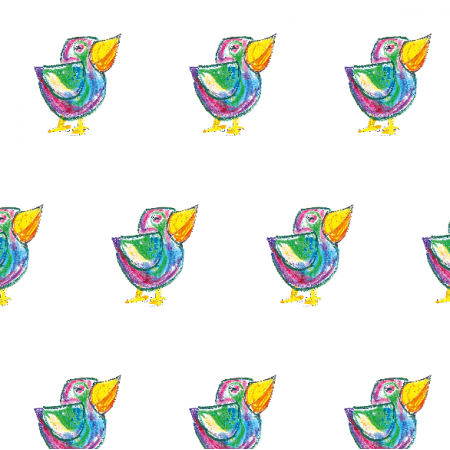 17685 | Funny bird 3- pattern for kids