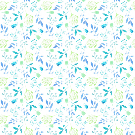 Fabric 17717 | niebieskie z zielonym