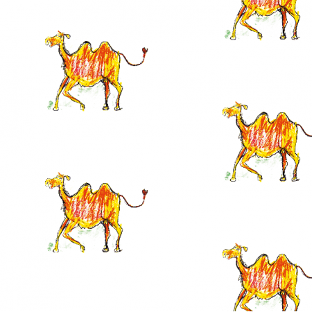Tkanina 17735 | Camel pattern for kids