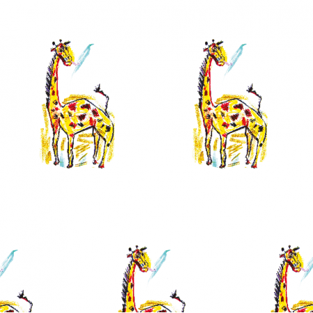 Tkanina 17747 | giraffe 2 pattern for kids