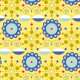 Tkanina 1935 | blue etno flowers