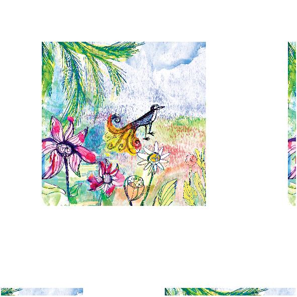 Fabric 17752 | Paradise bird 2 watercolour pattern