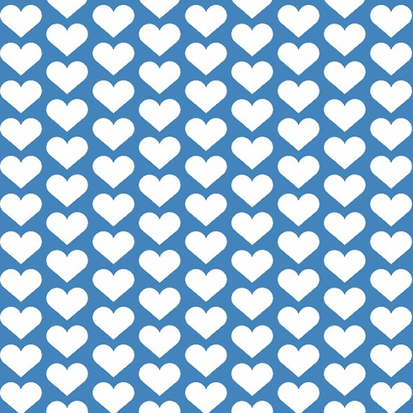 Fabric 1936 | hearts on blue