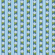 Tkanina 1937 | blue pattern