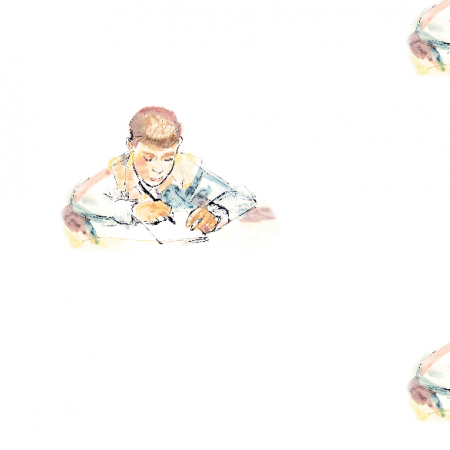 17817 | Schoolboy 1 - watercolour pattern