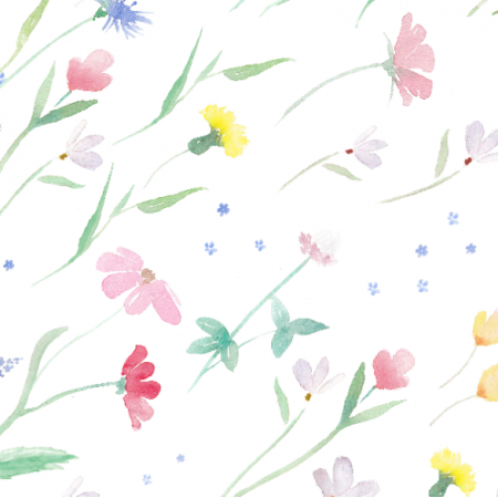 Fabric 17820 | Wild Flowers on Wind | Polne kwiaty na wietrze