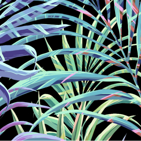 17826 | Tropical Palms | Tropikalne palmy | BLACK