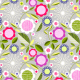 Fabric 1943 | flowers on grey