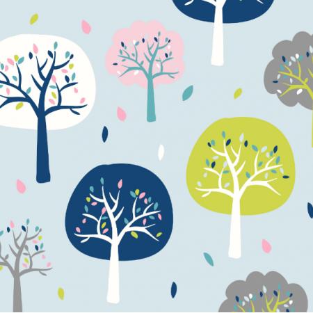 Fabric 17831 | drzewka