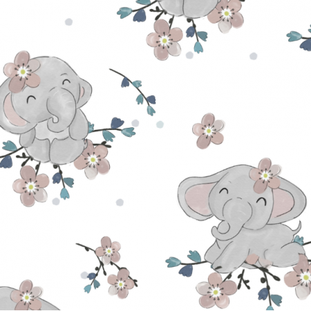17834 | Słoniki i kwiaty