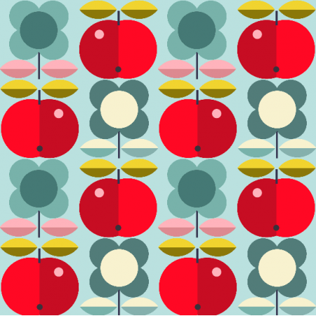 Fabric 1944 | folk apples
