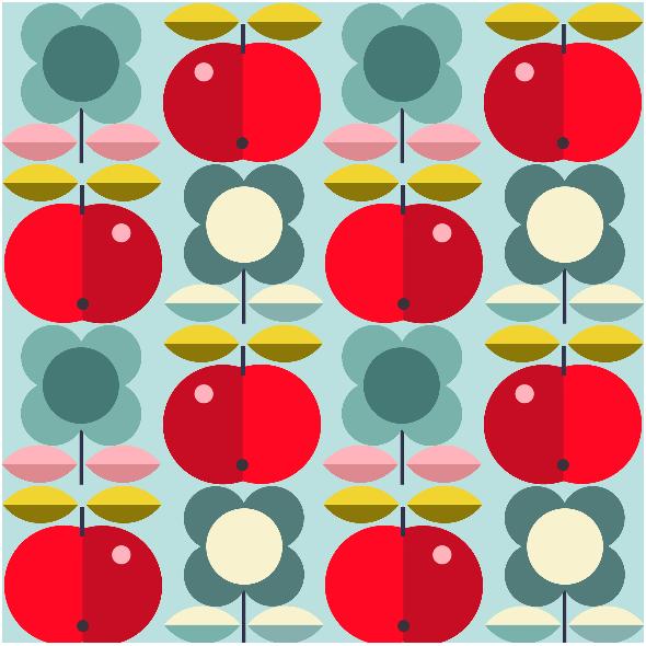 Fabric 1944 | folk apples