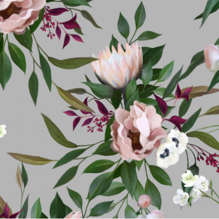 Fabric 17852 | BOUQUET WITH A PROTEA