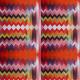 Tkanina 17865 | ORANGE ZIG ZAG